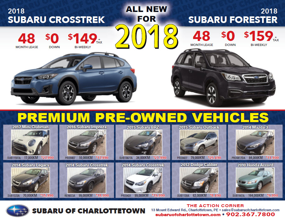 2018 All New Crosstrek and Forester