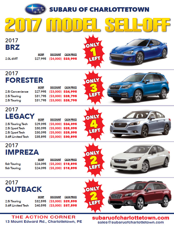 2017 Model Sell-Off